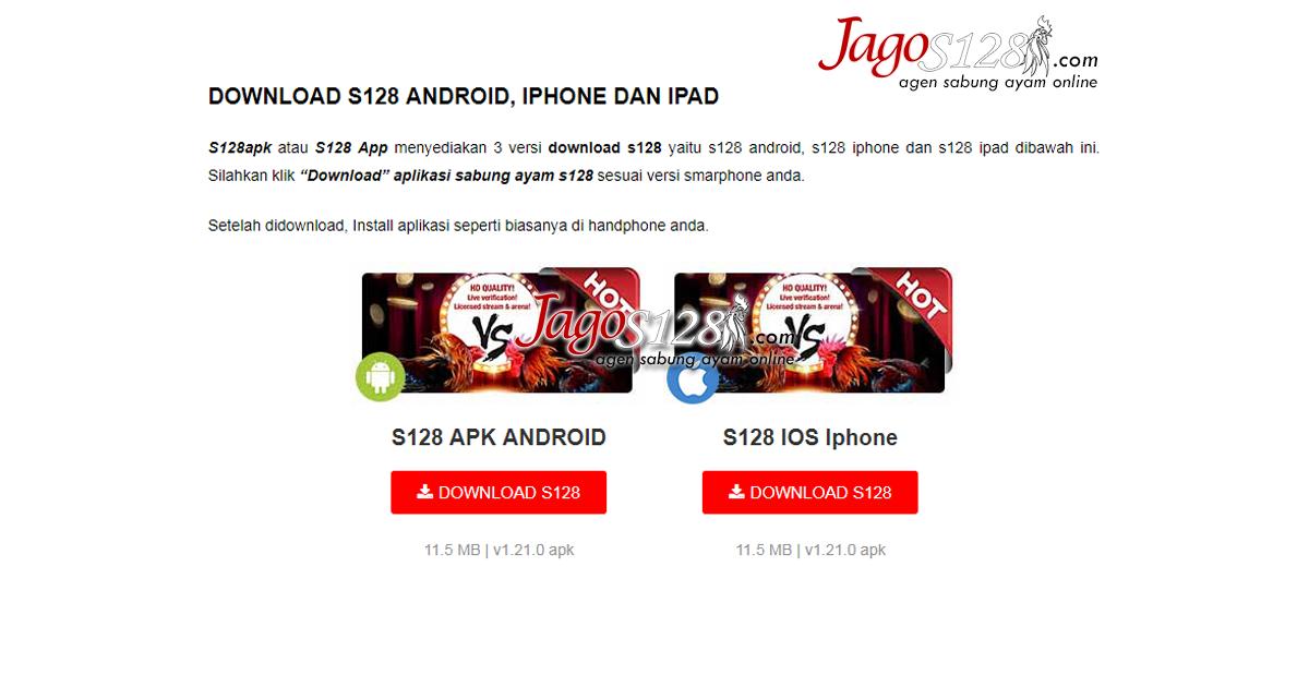 Download S128 APK Aplikasi Sabung Ayam S128 Live APK ...